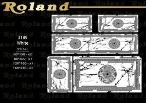 Roland 5er Teppich Set Waschbar 3189 White
