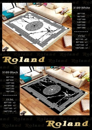 Roland 5er Teppich Set Waschbar 3189 Black