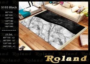 Roland 5er Teppich Set Waschbar 3193Black