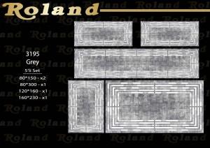 Roland 5er Teppich Set Waschbar 3195 Grey