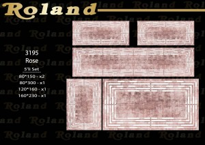 Roland 5er Teppich Set Waschbar 3195 Rose