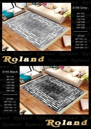 Roland 5er Teppich Set Waschbar 3195 Black