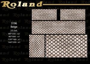 Roland 5er Teppich Set Waschbar 3196 Beige