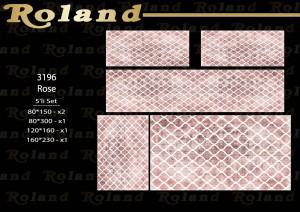 Roland 5er Teppich Set Waschbar 3196 Rose
