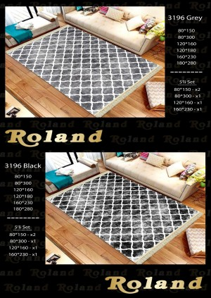 Roland 5er Teppich Set Waschbar 3196