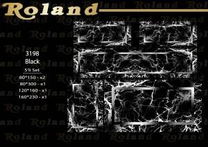 Roland 5er Teppich Set Waschbar 3198 Black