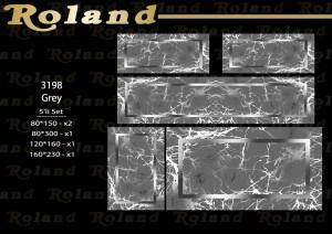 Roland 5er Teppich Set Waschbar 3198 Grey