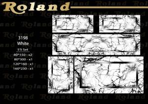 Roland 5er Teppich Set Waschbar 3198 White