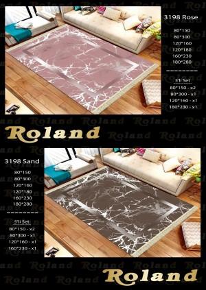 Roland 5er Teppich Set Waschbar 3198 Rose