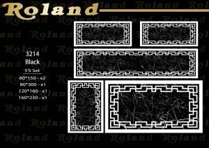 Roland 5er Teppich Set Waschbar 3214 Black