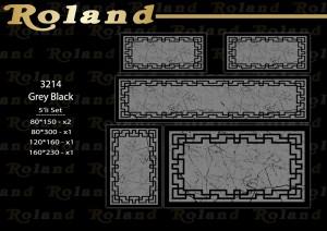 Roland 5er Teppich Set Waschbar 3214 Grey Black