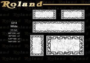 Roland 5er Teppich Set Waschbar 3214 White