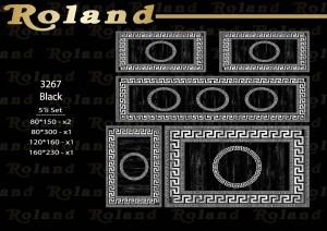 Roland 5er Teppich Set Waschbar 3267 Black