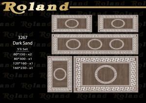 Roland 5er Teppich Set Waschbar 3267 Dark Sand
