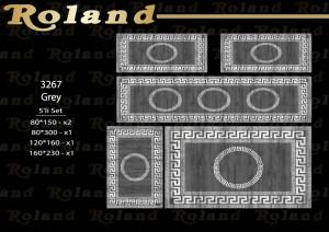 Roland 5er Teppich Set Waschbar 3267 Grey