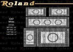 Roland 5er Teppich Set Waschbar 3267 White