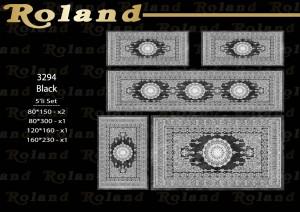 Roland 5er Teppich Set Waschbar 3294 Black