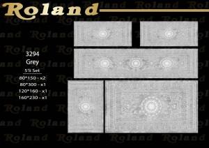 Roland 5er Teppich Set Waschbar 3294 Grey