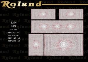 Roland 5er Teppich Set Waschbar 3294 Rose