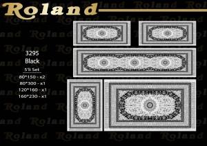 Roland 5er Teppich Set Waschbar 3295 Black