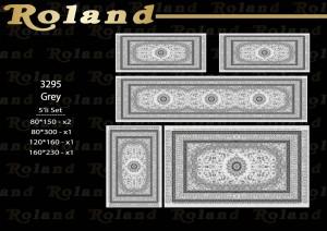 Roland 5er Teppich Set Waschbar 3295 Grey
