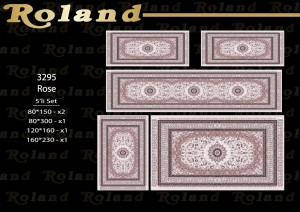 Roland 5er Teppich Set Waschbar 3295 Rose