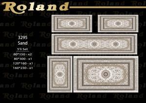 Roland 5er Teppich Set Waschbar 3295 Sand