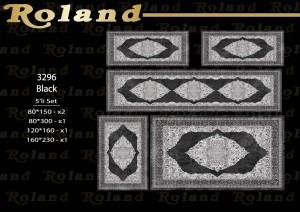 Roland 5er Teppich Set Waschbar 3296 Black