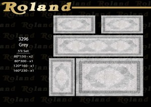 Roland 5er Teppich Set Waschbar 3296 Grey