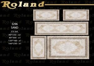 Roland 5er Teppich Set Waschbar 3296 Sand