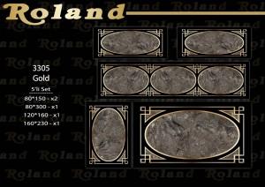 Roland 5er Teppich Set Waschbar 3305 Gold