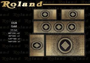 Roland 5er Teppich Set Waschbar 3328 Gold