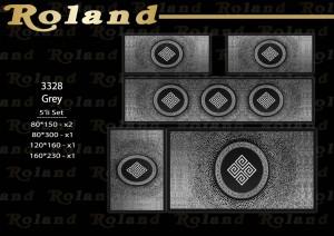 Roland 5er Teppich Set Waschbar 3328 Grey