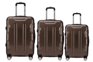 Reisekoffer SET 3tlg. Hartschalen Trolley Handgepäck Kofferset Bordgepäck Gold