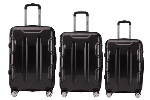 Reisekoffer SET 3tlg. Hartschalen Trolley Handgepäck Kofferset Bordgepäck