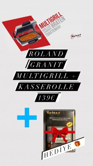 Roland Multigrill Granit Kontaktgrill Grill + Kasserolle Granit