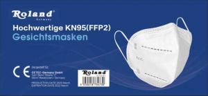 Roland FFP2 KN95 Gesichtsmaske für Mund-und Nasenschutz