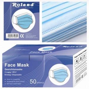 Roland Einweg 50er Gesichtsmaske für Mund-und Nasenschutz