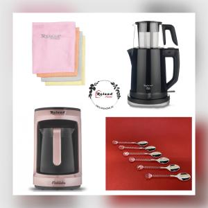 Roland Tee&Kaffee Set Schwarz