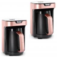 2xFAKIR Mokkamaschine KAAVE MONO 280ml One Touch Luminasense Technologie Rose