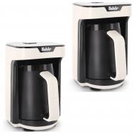 2x FAKIR Mokkamaschine KAAVE MONO 280ml One Touch Luminasense Technologie Weiß